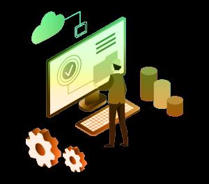 Supply Chain Software Illustration