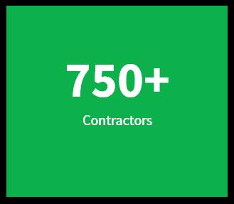 750+ Contractors