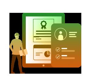 Learning Management System Illustration